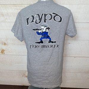 NYPD The Bronx Gray Crewneck T-Shirt Size S